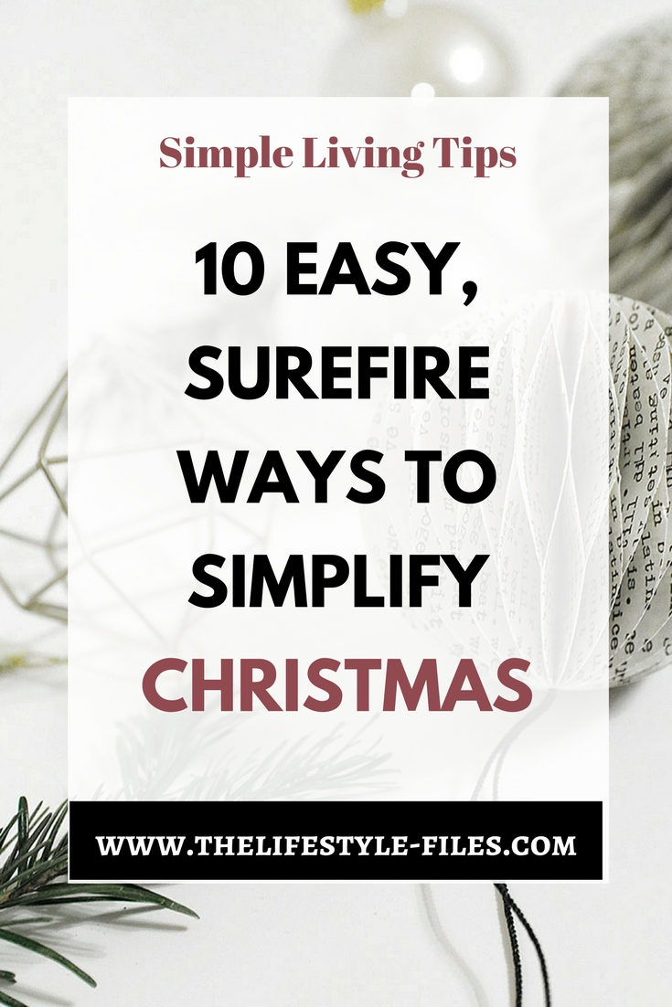 How to simplify Christmas? Christmas / slow living / holidays / organizing / holiday tips / simplify / simple living